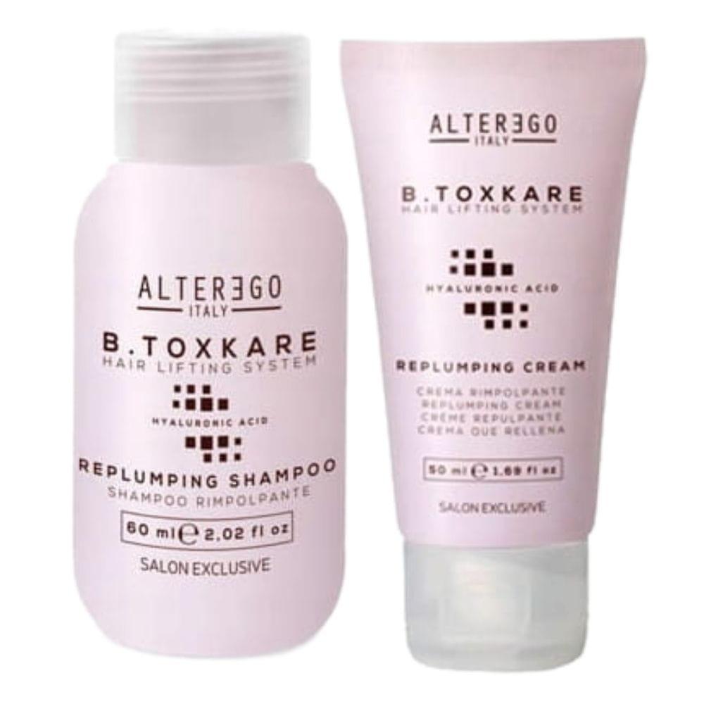 ALTER EGO B.TOXKARE mały zestaw odbudowa-szampon 60 ml  krem uszczelniający 50 ml